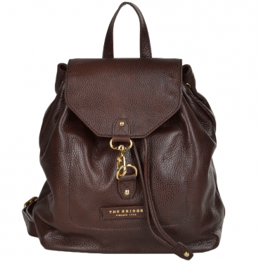 The Bridge Full Grain Italian Leather Backpack Brown - 44236 79 14 NH