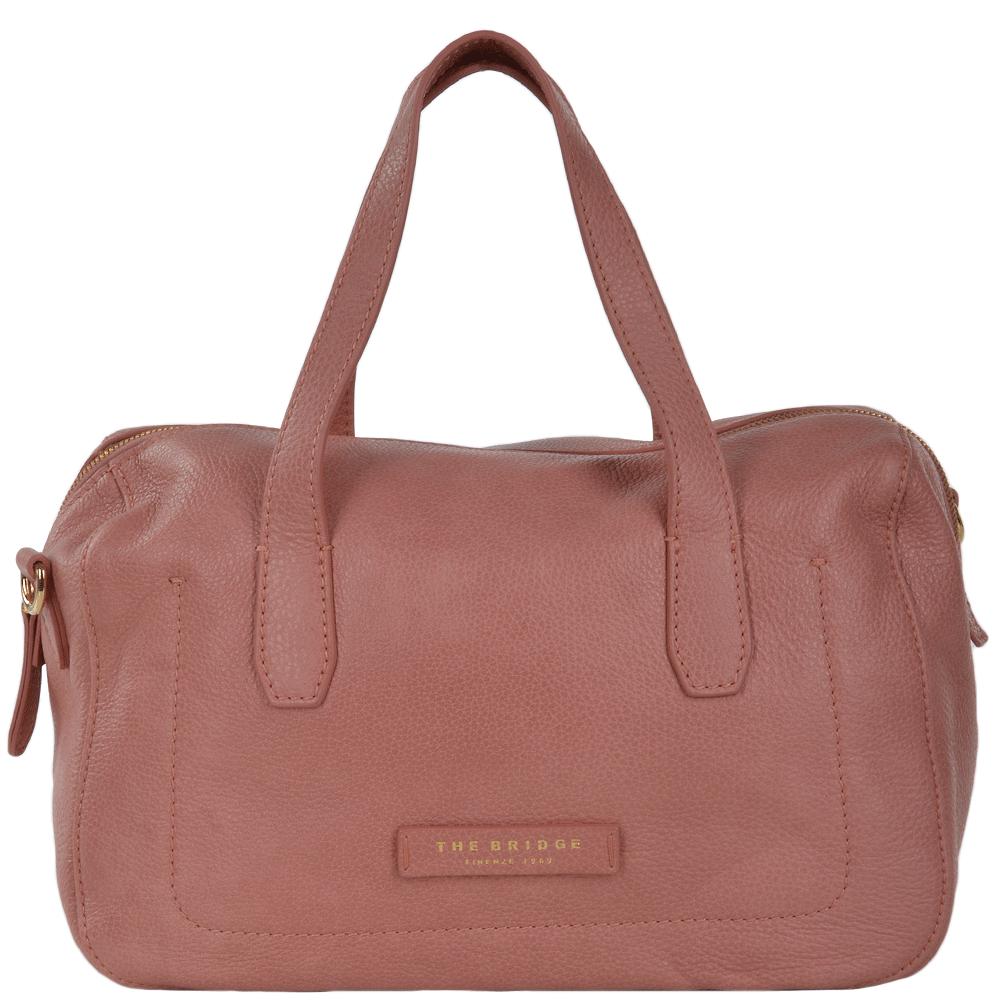 Full Grain Italian Leather Handbag Bag Dusty Rose gold - 41516 79 5F NH 0b648186756b4
