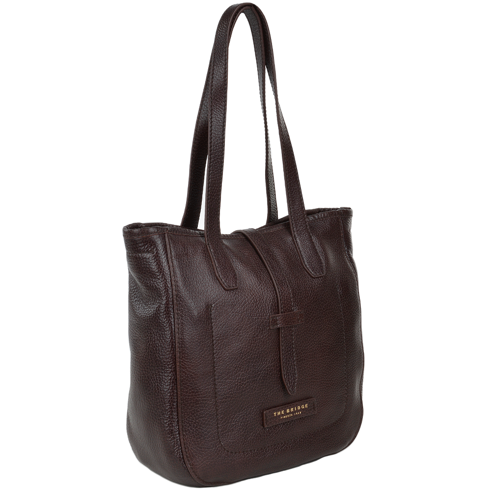 2aed2a12b889b The Bridge Full Grain Italian Leather Handbag Brown - 41406 79 14 NH
