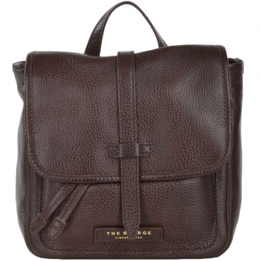 The Bridge Full Grain Italian Leather Mini Backpack Brown - 41486 79 14 NH