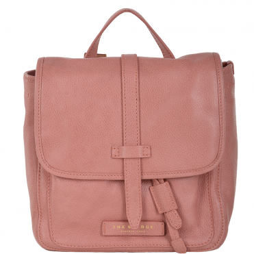 The Bridge Full Grain Italian Leather Mini Backpack Dusty Rose/gold - 41426 79 5F NH