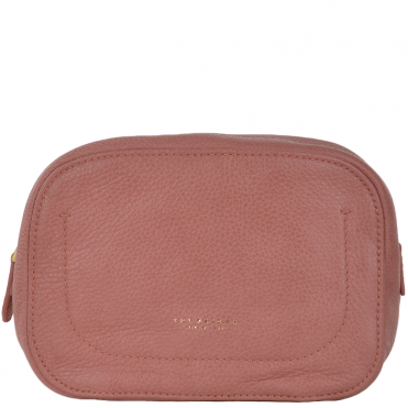 Full Grain Italian Leather Mini Clutch Bag Dusty Rose/gold - 91426 79 5F NH