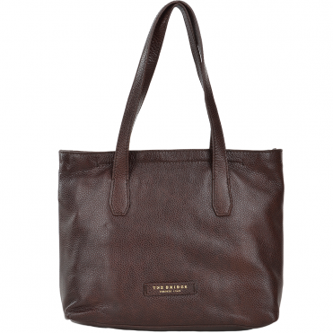 Full Grain Italian Leather Shopper Bag Brown - 44356 79 14 NH
