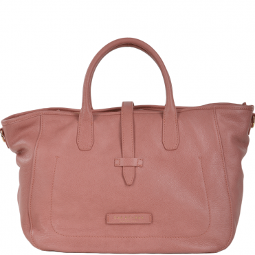 Full Grain Italian Leather Shopper Bag Dusty Rose/gold - 41456 79 5F NH