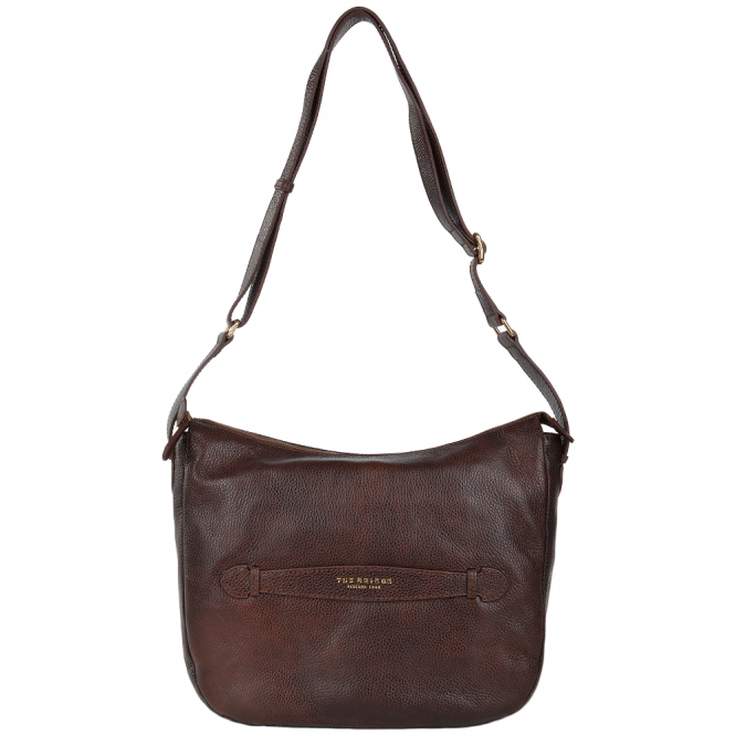 The Bridge Full Grain Italian Leather Shoulder Bag Brown - 41415 79 14 NH