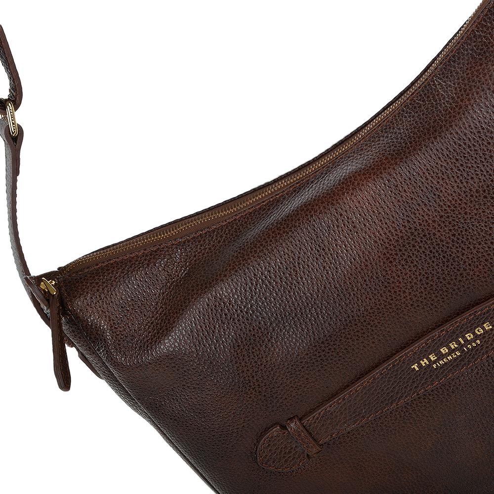 2ef4d3262ef9d The Bridge Full Grain Italian Leather Shoulder Bag Brown - 41415 79 14 NH