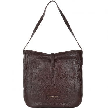 Full Grain Italian Leather Shoulder Bag Brown - 41436 79 14 NH