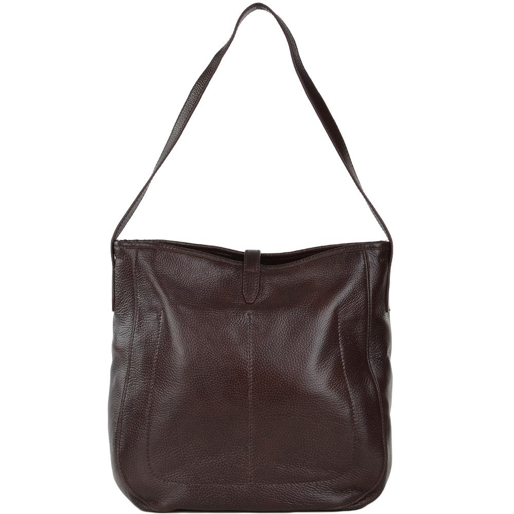 7ac907fb9cfa9 Full Grain Italian Leather Shoulder Bag Brown - 41436 79 14 NH