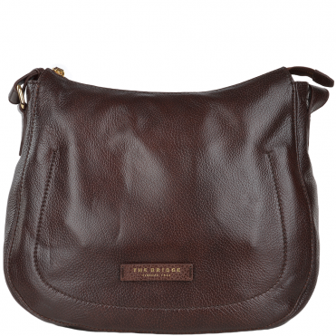 Full Grain Italian Leather Shoulder Bag Brown - 41556 79 14 NH