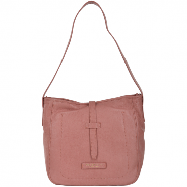 Full Grain Italian Leather Shoulder Bag Dusty Rose/gold - 41426 79 5F NH