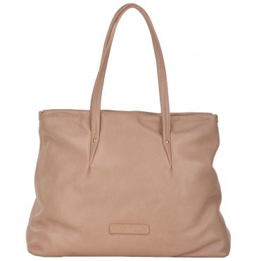 The Bridge Full Grain Italian Leather Shoulder Bag Pink Nude gold - 40217 79  7B d3112c387d35d