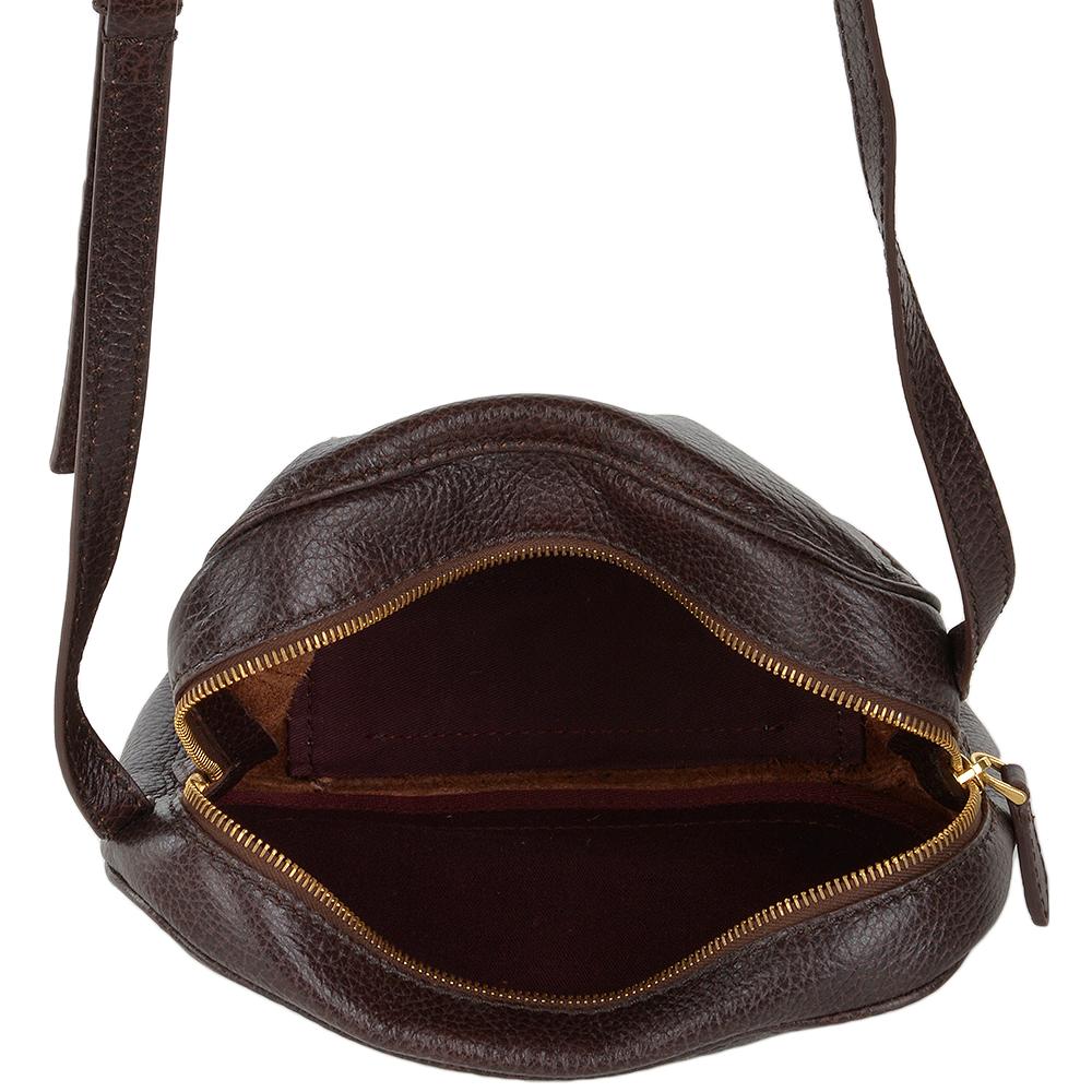 5c9bffea048bf Full Grain Italian Leather Small Cross Body Bag Brown - 41536 79 14 NH
