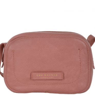 Full Grain Italian Leather Small Cross Body Bag Dusty Rose/gold - 41526 79 5F NH