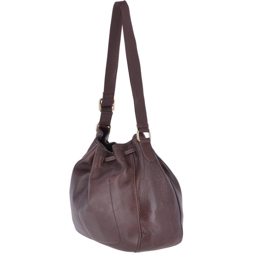 4f3b8923cfc1a The Bridge Full Grain Large Italian Leather Shoulder Bag Brown - 041476 79  14