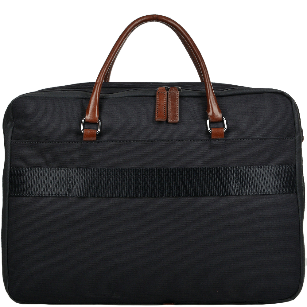 ee71dfa9041c The Bridge Hydro Italian Travel Bag With Laptop Section Black brn gunmetal  - 061546 05 5Z NH