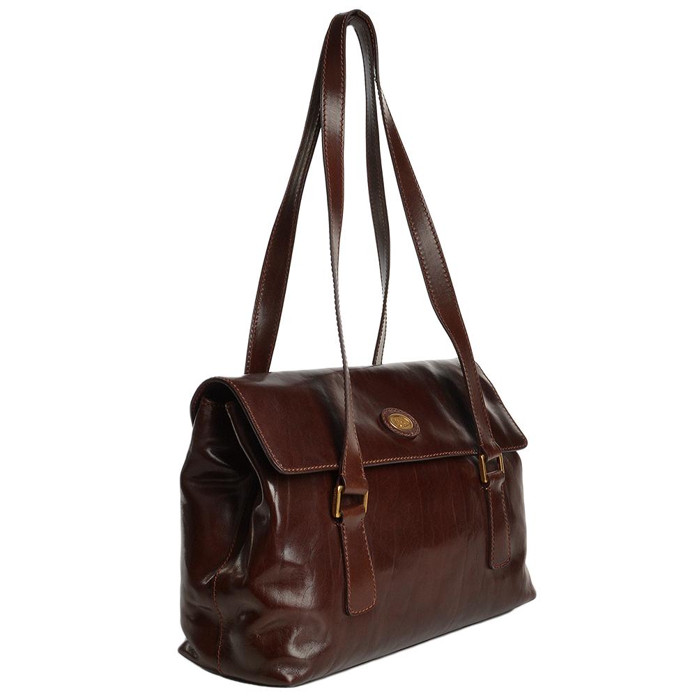 4e74e5c114a3c The Bridge Italian Large Leather Shoulder Bag Brown - 44188 01 14 NH