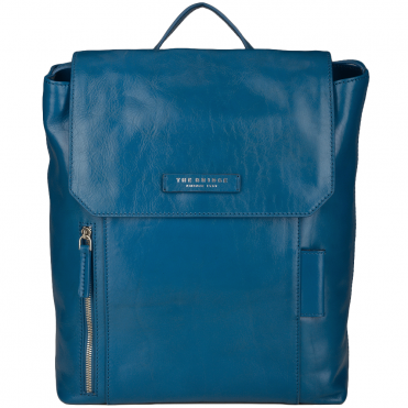 Italian Leather Backpack Blue/ruthenium : 63616 01 6B NH