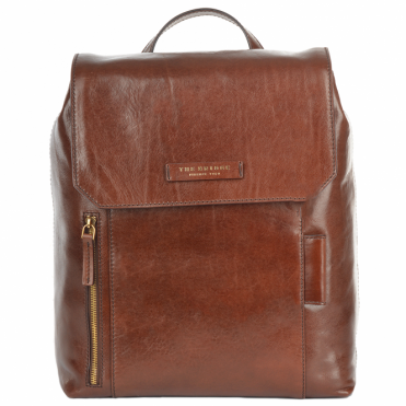 Italian Leather Backpack Brown : 63616 01 14 NH