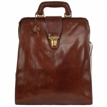 Italian Leather Backpack Brown : 68107 01 14 NH