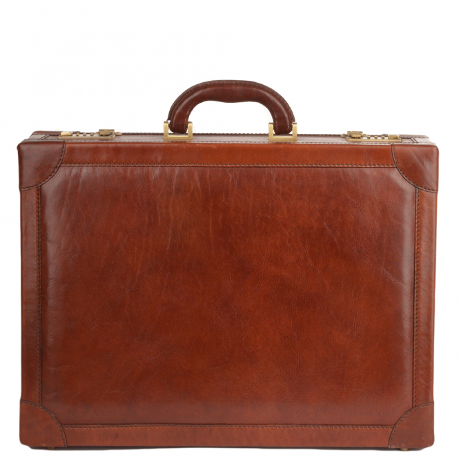 The Bridge Italian Leather Briefcase Brown : 64024 01 14 NH