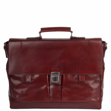 Italian Leather Briefcase Chianti Red : 62254 01 58 NH