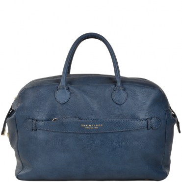 Italian Leather Handbag Blue : 004094579 2F