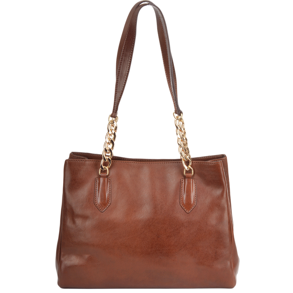 Womens Italian Leather Handbag Brown 42347 01 14 Nh