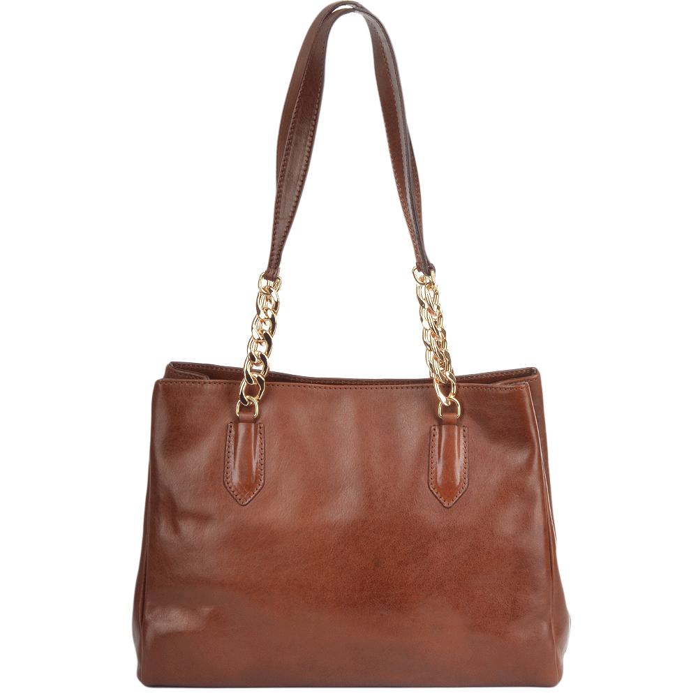 Womens Italian Leather Handbag Brown 42347 01 14 Nh