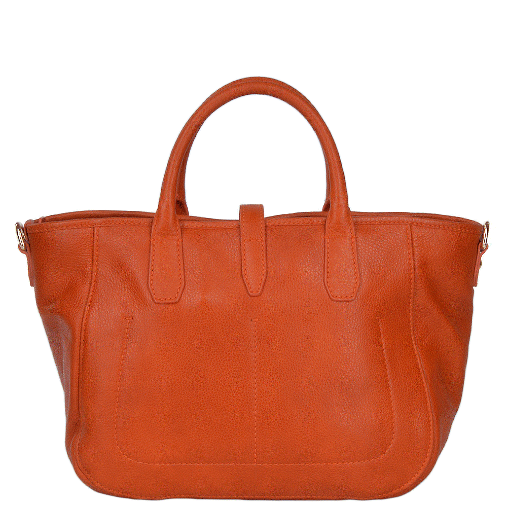 Womens Italian Leather Handbag Pumpkin Gold 41446 79 5b Nh