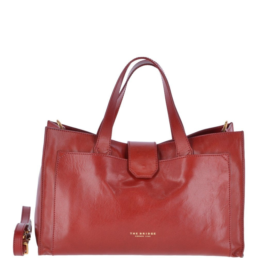 THE BRIDGE Italian Leather Handbag Red   004424501 2E - Offers from ...