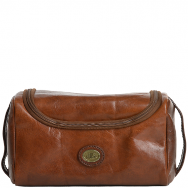 The Bridge Italian Leather Hanging Wash Bag Brown - 91120 01 14 NH