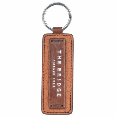 Italian Leather Key Ring Brown : 094205 2G 2V NH