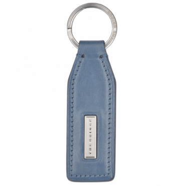 Italian Leather Key Ring Iron Blue : 092124 01 2A NH