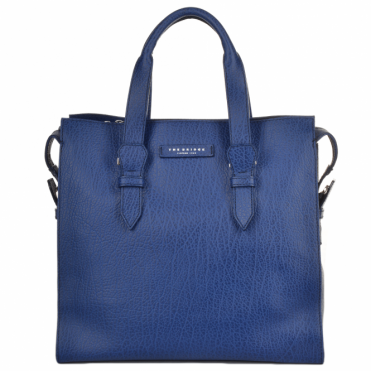 Italian Leather Large Work Bag French Blue/ruthenium : 60016 85 4Y NH