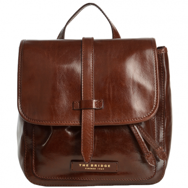The Bridge Italian Leather Mini Backpack Brown - 41486 79 14 NH