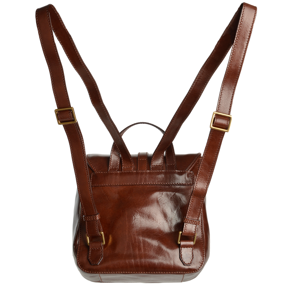 8d6a42229be The Bridge Italian Leather Mini Backpack Brown - 41486 79 14 NH