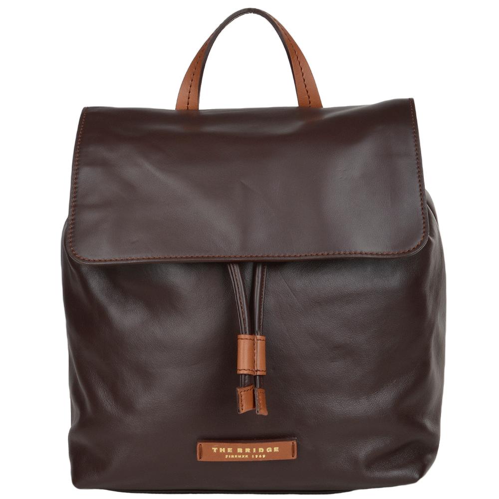 weich und leicht neueste Art von billiger Verkauf The Bridge Italian Leather Rucksack Brown - 044676 3R 14 NH