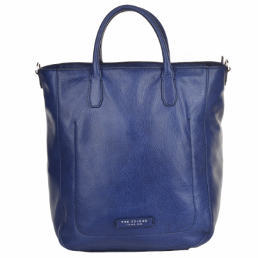 Italian Leather Shopper Bag French Blue/ruthenium : 64116 79 4Y NH