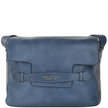Italian Leather Shoulder Bag Blue : 004090579 2F