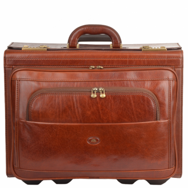Italian Leather Trolley Case Brown : 64539 01 14 NH