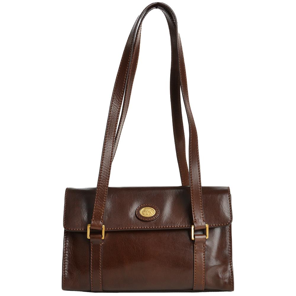 d286e0e34ce1f The Bridge Italian Medium Leather Shoulder Bag Brown - 44098 01 14 NH