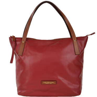 The Bridge Italian Medium Shoulder Bag Red/ Gold - 044656 3R 6F NH
