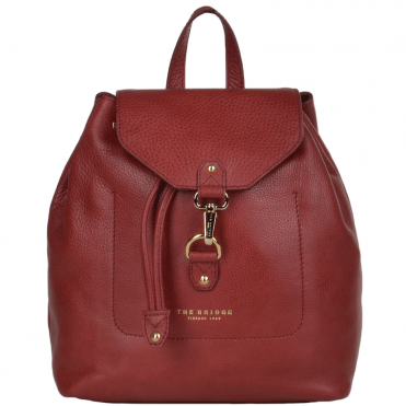 The Bridge Italian Rucksack Red Current/gold - 44235 79 2E NH