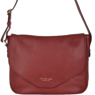 The Bridge Italian Shoulder Bag Red Current/gold - 44325 79 2E NH