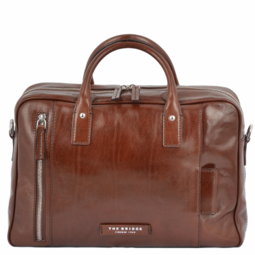 The Bridge Italian Work Bag Brown/palladium : 63636 01 69 NH
