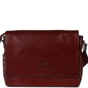 2e746cb19e0d Large Italian Leather Laptop Messenger Bag Chianti Red - 52254 01 58 NH
