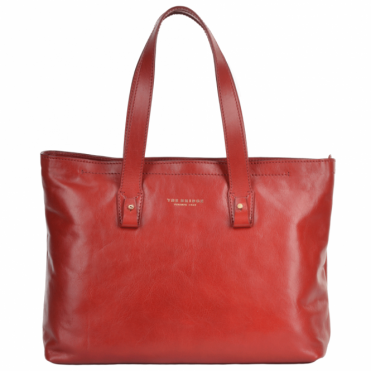 Large Italian Shopper Bag Red Current/gold : 44365 01 2E NH
