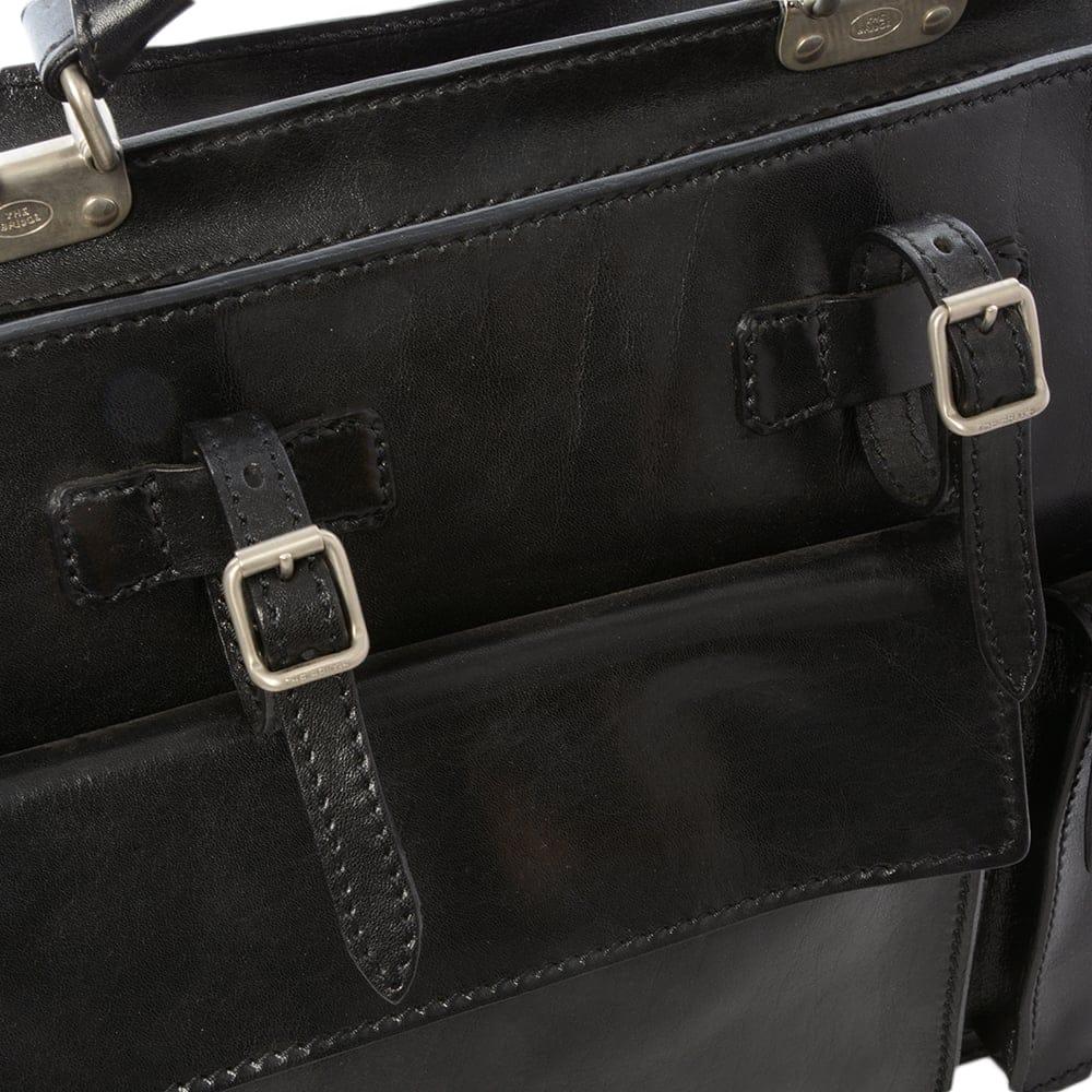 3ee03829f7 Mens Leather Work Bag Black   00019734