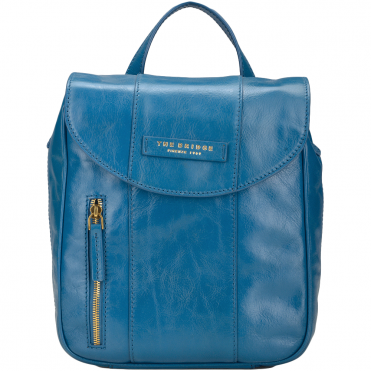 Mini Italian Leather Backpack Blue/ Gold : 43676 01 6A NH