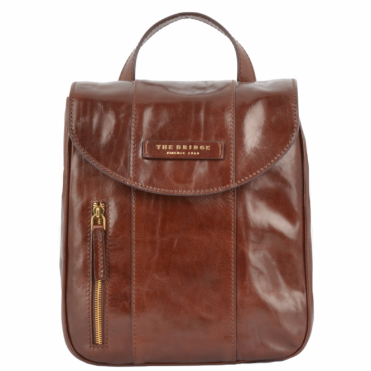 Mini Italian Leather Backpack Brown : 43676 01 14 NH